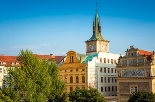 The Smetana Museum (Muzeum Bedricha Smetany) and Prague cityscape. Czech Republic - slon.pics - free stock photos and illustrations