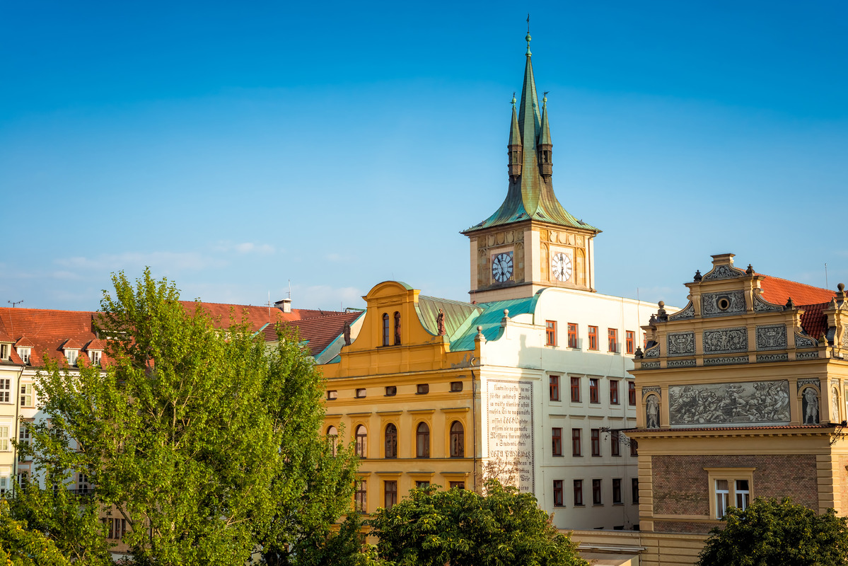 The Smetana Museum (Muzeum Bedricha Smetany) and Prague cityscape. Czech Republic - slon.pics - free stock photos and illustrations