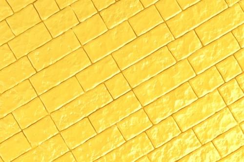 A yellow brick wall. 3D illustration - slon.pics - free stock photos and illustrations
