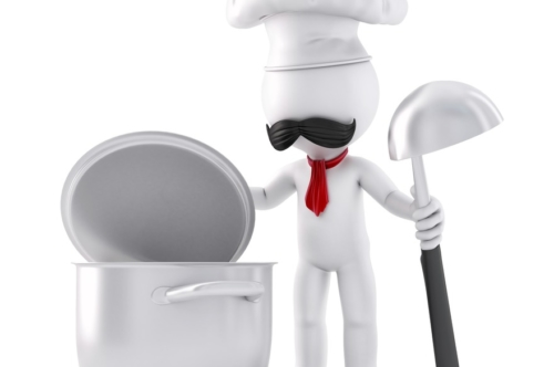 Chef Preparing Food. 3D illustration. Isolated. Contains clipping path - slon.pics - free stock photos and illustrations