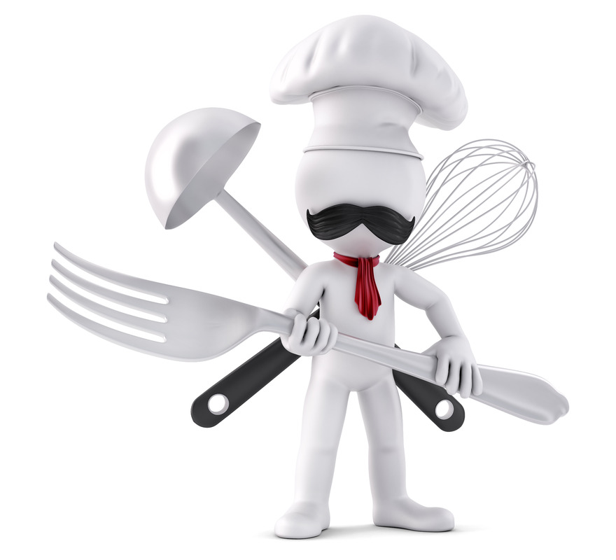 Chef. Ready for battle. 3D illustration. Isolated. Contains clipping path - slon.pics - free stock photos and illustrations