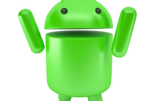 Happy jumping android robot. 3D illustration. Isolated. Contains clipping path - slon.pics - free stock photos and illustrations