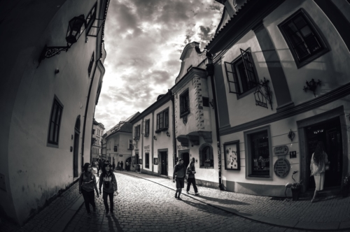 Masna street, historic old town of Cesky Krumlov. Czech Republic - slon.pics - free stock photos and illustrations