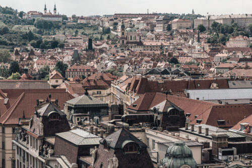 Prague cityscape as seen from the The Old Town Hall. Prague, Czech Republic - slon.pics - free stock photos and illustrations