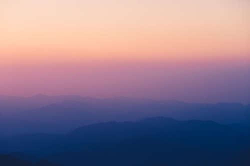Silhouettes of the mountain hills at sunset - slon.pics - free stock photos and illustrations