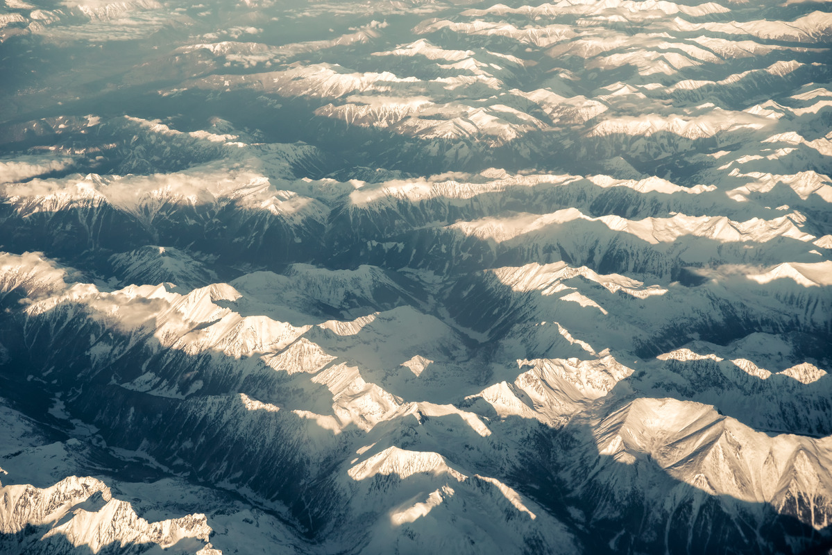View on Alps from airplane - slon.pics - free stock photos and illustrations