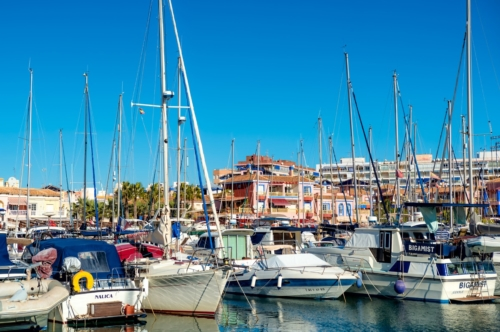 Yahcts and boats in marina of Torrevieja. Valencia, Spain - slon.pics - free stock photos and illustrations