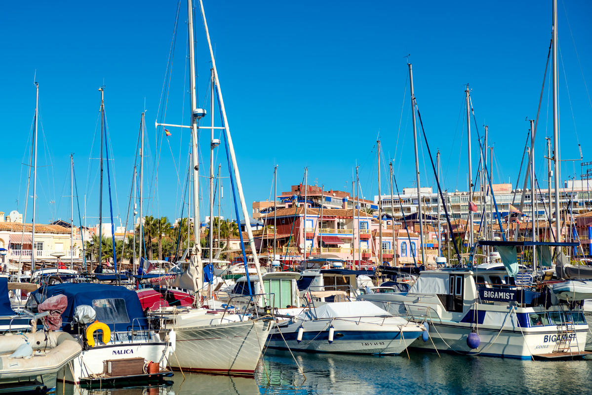 Yahcts and boats in marina of Torrevieja. Valencia, Spain - slon.pics - free stock photos and illustrations