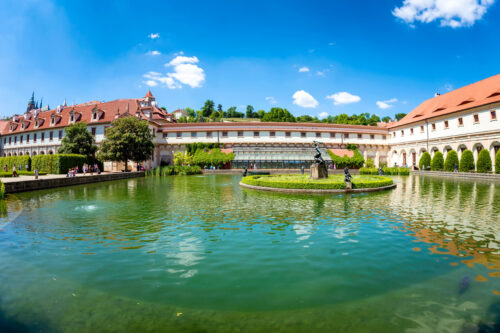 A pond with The Hercules' Fountain at Wallenstein Garden. Prague, Czech Republic - slon.pics - free stock photos and illustrations