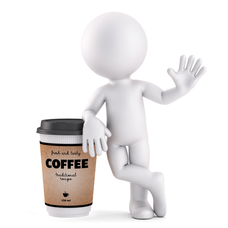Coffee time. 3D illustration. Isolated. Contains clipping path - slon.pics - free stock photos and illustrations
