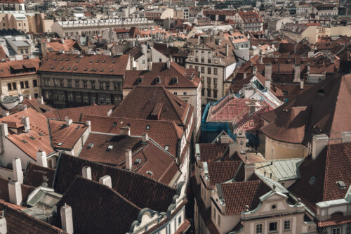 Rooftop view. Prague, Czech Republic - slon.pics - free stock photos and illustrations