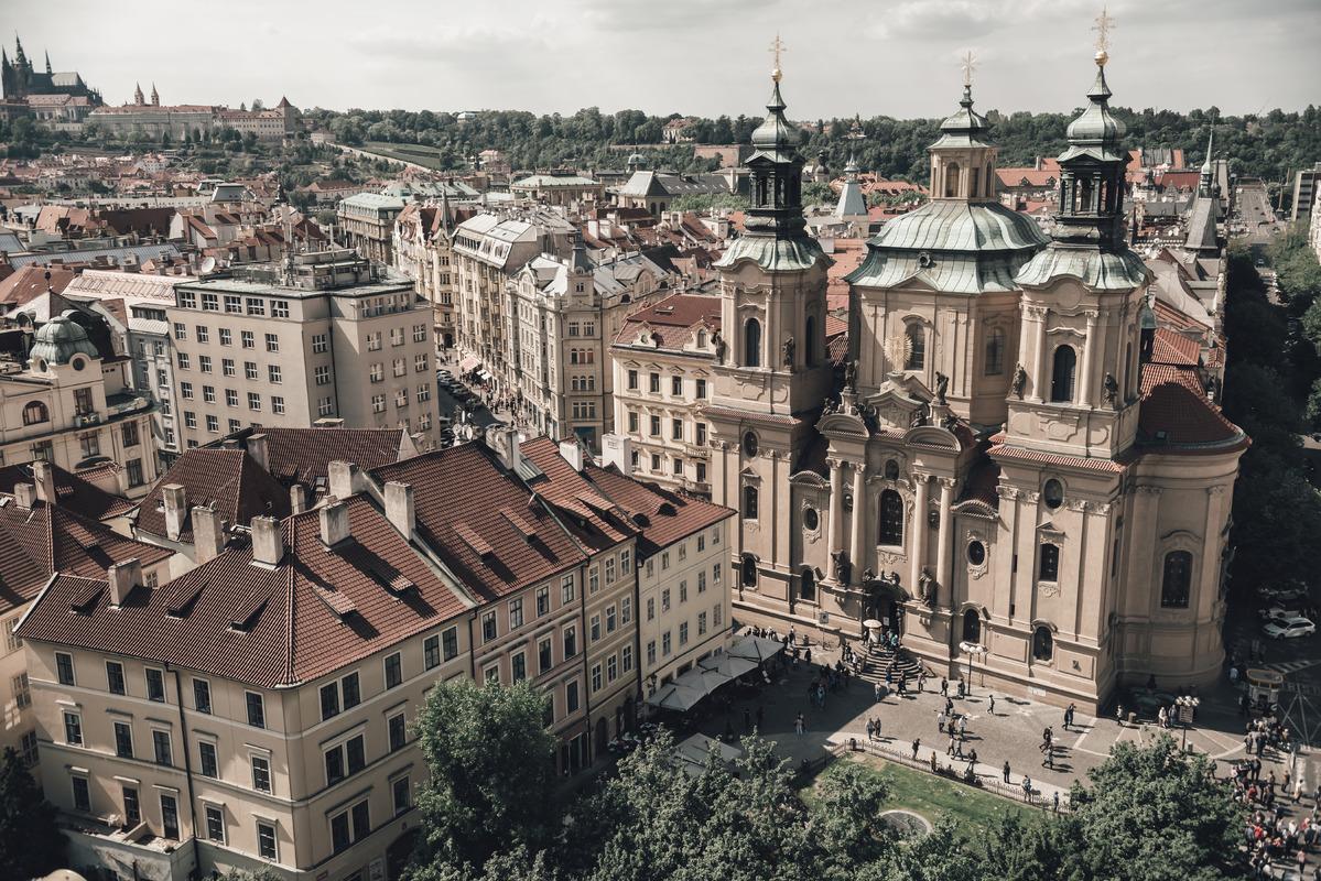 Saint Nicholas Church at Old Town Square. Prague, Czech Republic - slon.pics - free stock photos and illustrations