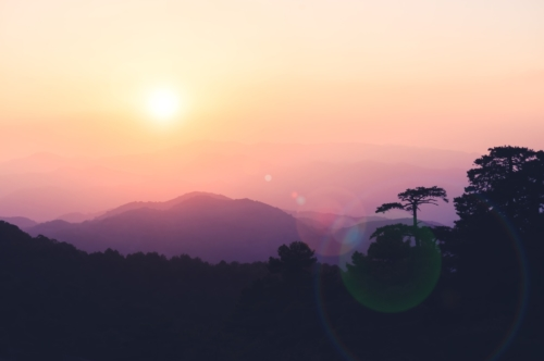 Silhouette of the Troodos mountains. Cyprus - slon.pics - free stock photos and illustrations