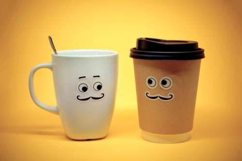 Smiley coffee cup - slon.pics - free stock photos and illustrations