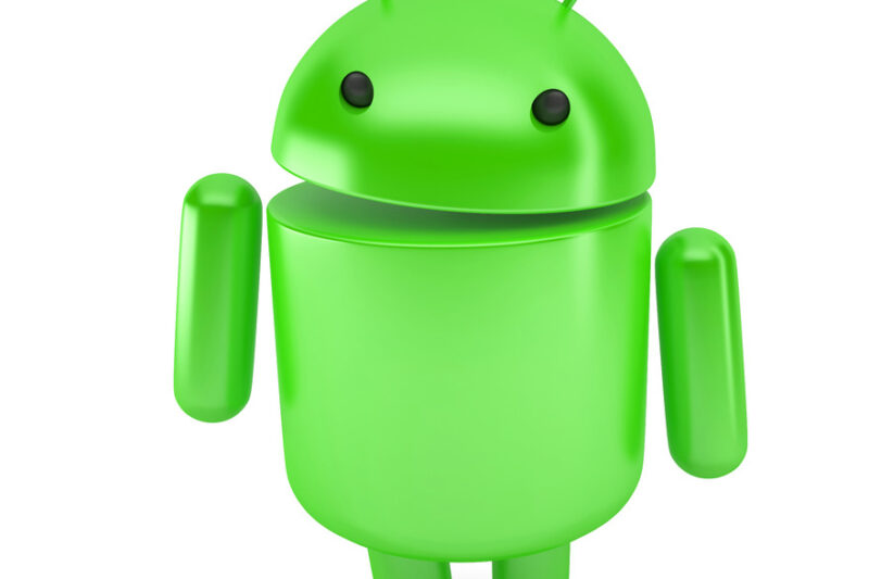 Smiling google android robot. 3D illustration. Isolated. Contains clipping path - slon.pics - free stock photos and illustrations