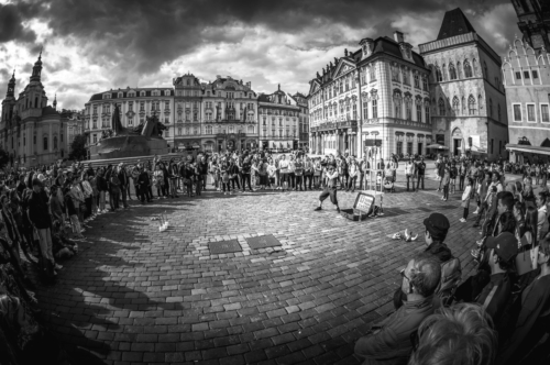 Sven from Sweden, street performer at Old Town Square. Prague, Czech Republic. May 24, 2017 - slon.pics - free stock photos and illustrations