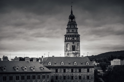 The tower of Cesky Krumlov Castle. Czech Republic - slon.pics - free stock photos and illustrations