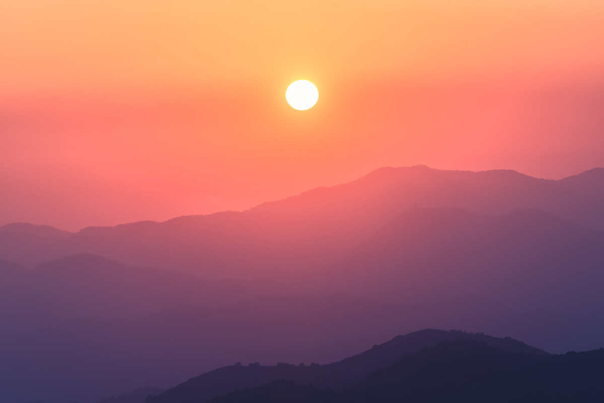 Troodos mountains at sunset. Cyprus - slon.pics - free stock photos and illustrations