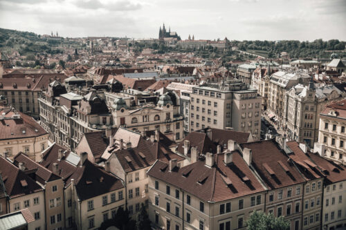 View of the rooftops around the old town square of Prague, Czech Republic - slon.pics - free stock photos and illustrations