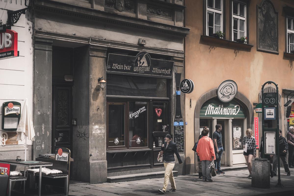 A street scene in Pilsen, Czech Republic. Czech Republic. May 22, 2017 - slon.pics - free stock photos and illustrations
