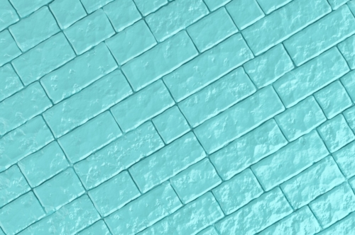 A teal brick wall. 3D illustration - slon.pics - free stock photos and illustrations