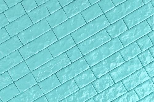 A teal brick wall. 3D illustration - slon.pics - free stock photos and illustrations