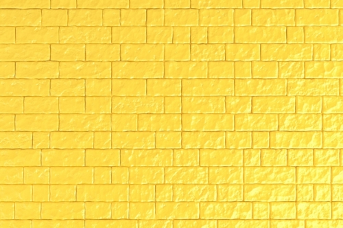 A yellow brick wall. 3D illustration - slon.pics - free stock photos and illustrations