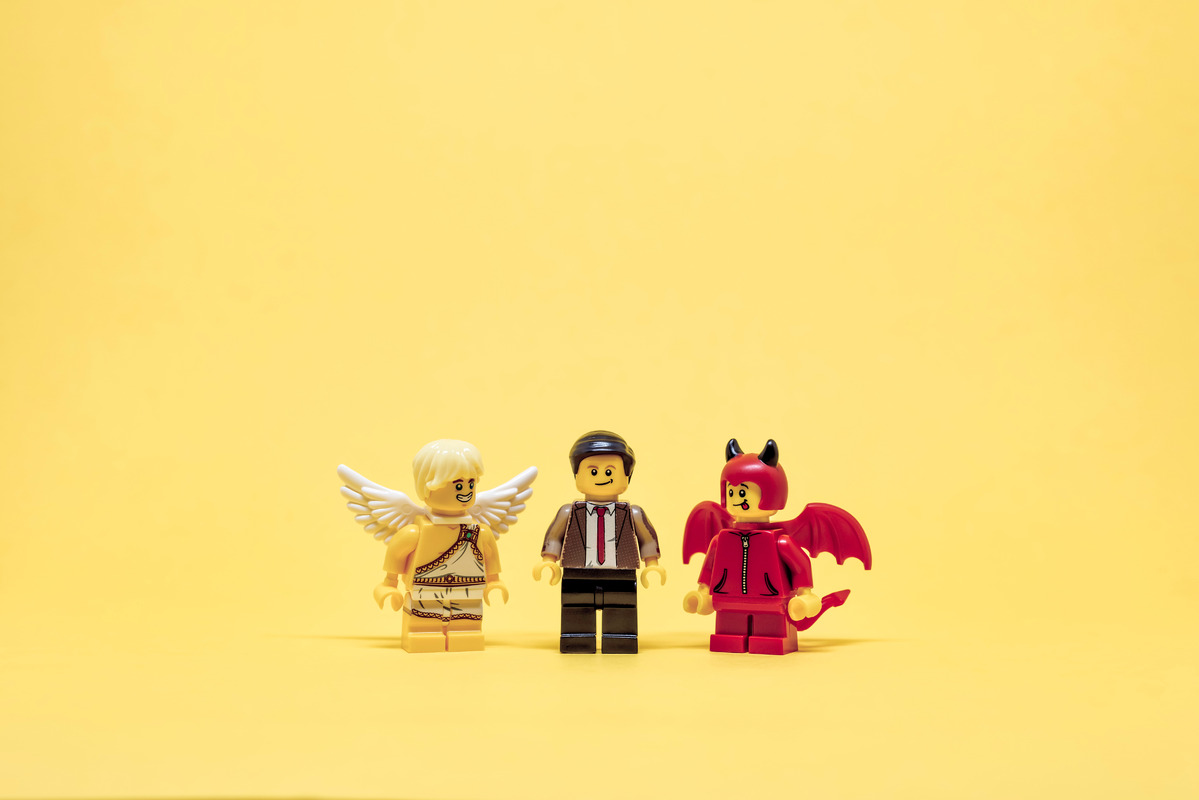 Between devil or angel - slon.pics - free stock photos and illustrations