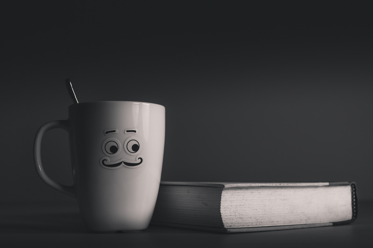 Book and Hot Coffee - slon.pics - free stock photos and illustrations