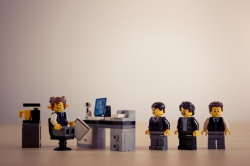 Candidates waiting for a job interview - slon.pics - free stock photos and illustrations