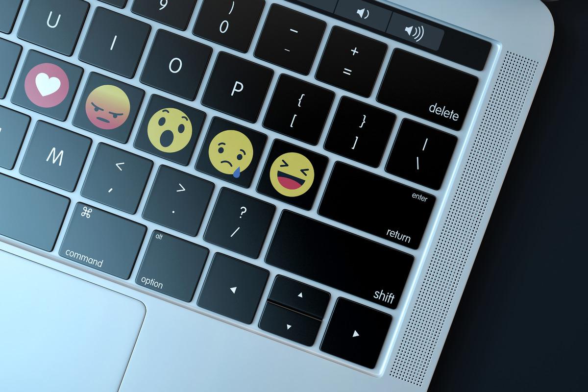 Emojis over keyboard - slon.pics - free stock photos and illustrations