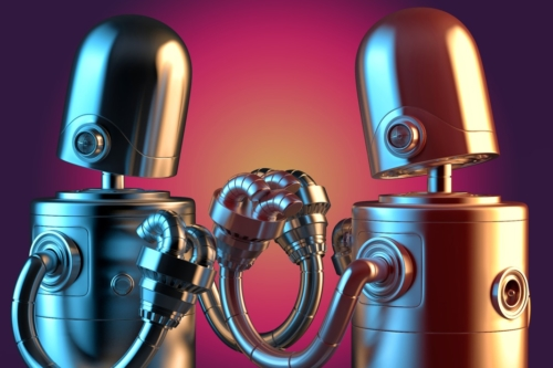 Fighting robots close-up. 3D illustration. Contains clipping path - slon.pics - free stock photos and illustrations