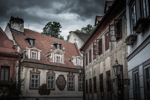 Historic houses in Cesky Krumlov. Czech Republic - slon.pics - free stock photos and illustrations
