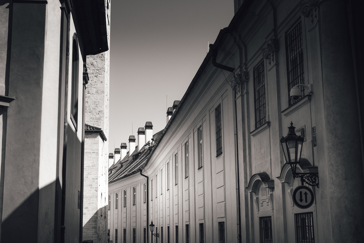 Jirska street opposite to St. George's Basilica, a part of Prague Castle - slon.pics - free stock photos and illustrations
