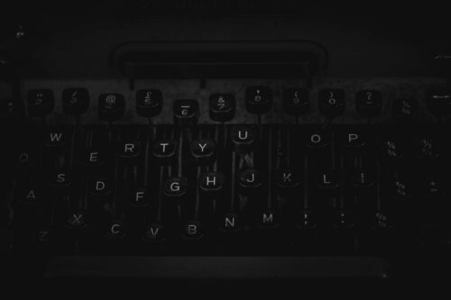 Old typewriter keyboard close-up - slon.pics - free stock photos and illustrations