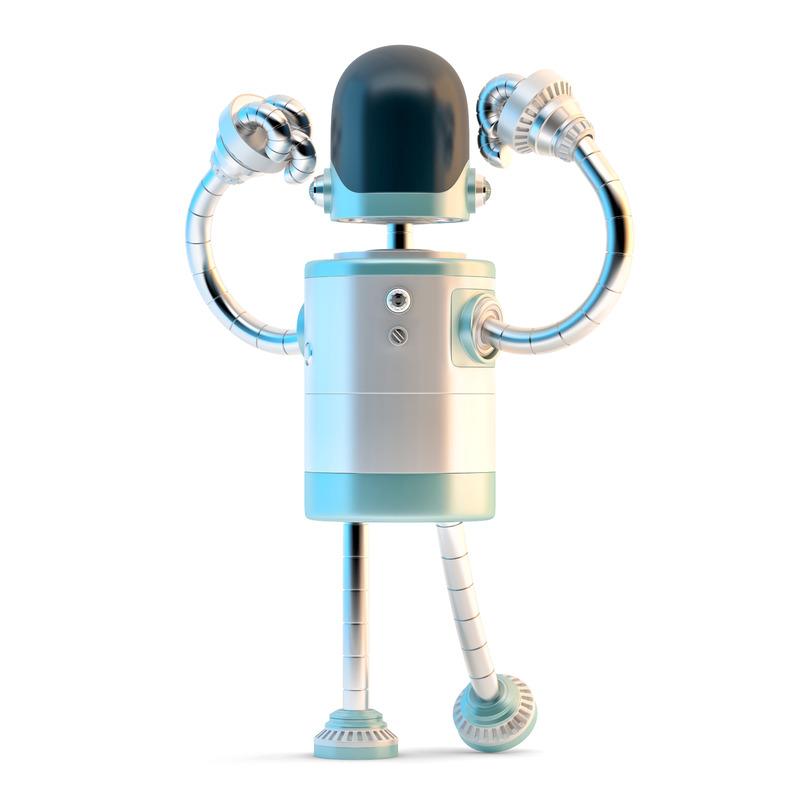 Powerful robot. 3D illustration. Isolated. Contains clipping path - slon.pics - free stock photos and illustrations
