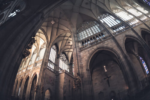 Saint Vitus Cathedral interior. Prague, Czech Republic - slon.pics - free stock photos and illustrations