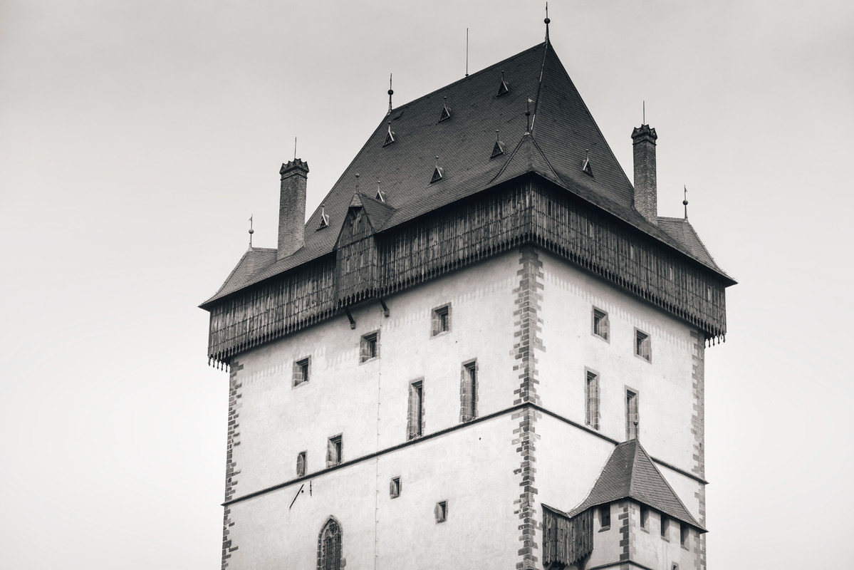 Tower of Karlstejn castle. Czech Republic - slon.pics - free stock photos and illustrations