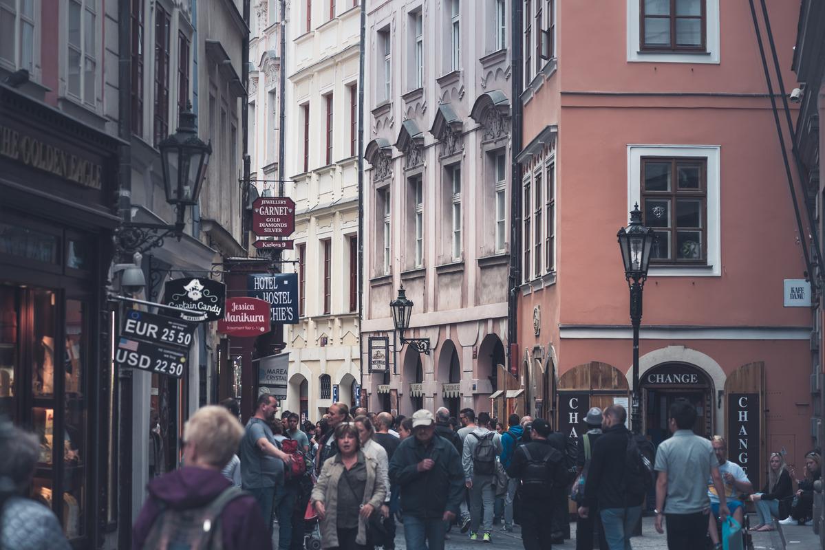 View of Karlova street. Prague, Czech Republic. May 21, 2017 - slon.pics - free stock photos and illustrations
