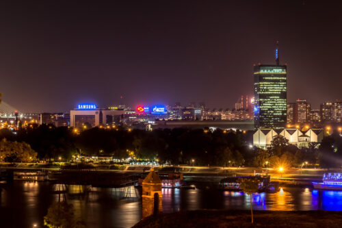 View of New Belgrade, a central business district. Serbia. September 23, 2015 - slon.pics - free stock photos and illustrations