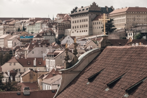View over the rooftops of Prague from St. Nicholas Church. Czech Republic - slon.pics - free stock photos and illustrations