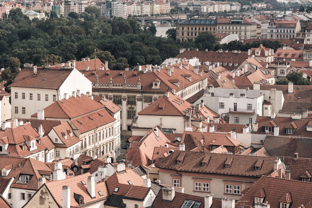 View over the rooftops of Prague. Czech Republic - slon.pics - free stock photos and illustrations