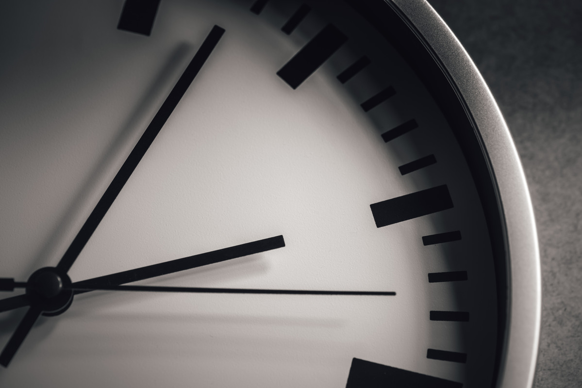 White clock face on gray background - slon.pics - free stock photos and illustrations