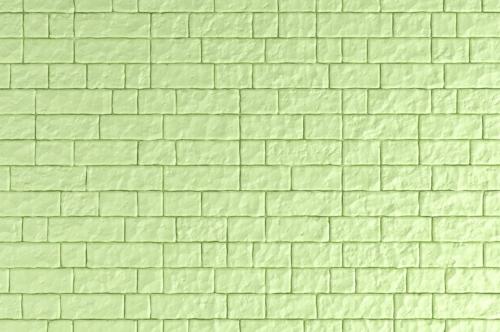 A Green brick wall. 3D illustration - slon.pics - free stock photos and illustrations