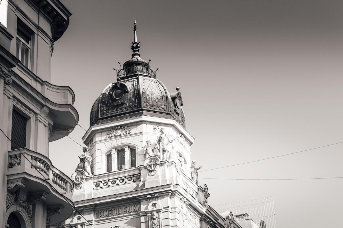 Baroque style building at Knez Mihailova street. Belgrade, Serbia - slon.pics - free stock photos and illustrations