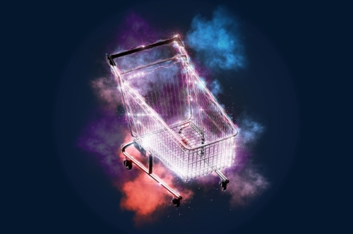 Blazing shopping cart - slon.pics - free stock photos and illustrations