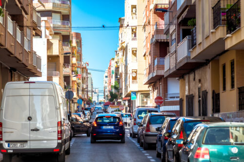 Busy street of Torrevieja. Spain - slon.pics - free stock photos and illustrations