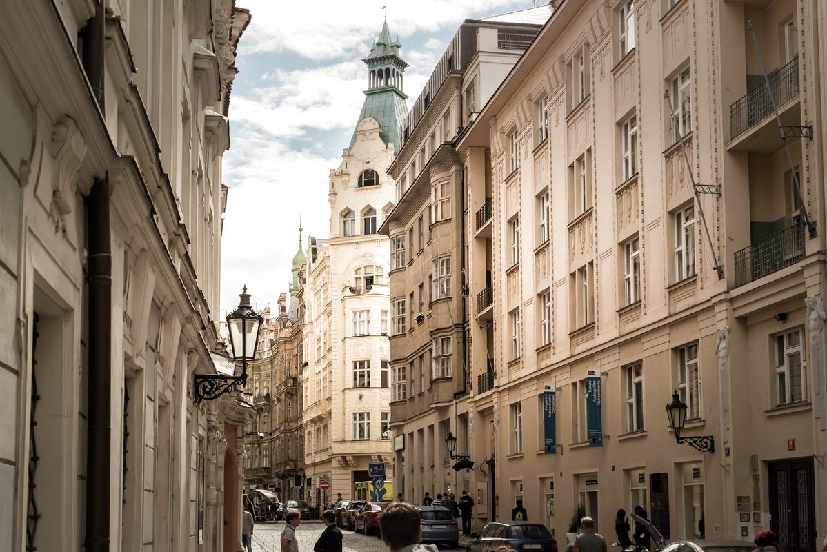 Maiselova Street at Jewish quarter. Prague, Czech Republic - slon.pics - free stock photos and illustrations