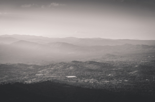 Mountain landscape. Black and white - slon.pics - free stock photos and illustrations