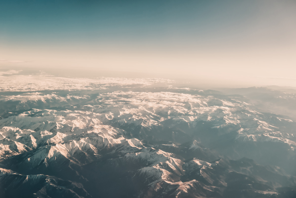 Mountainous landscape from plane - slon.pics - free stock photos and illustrations
